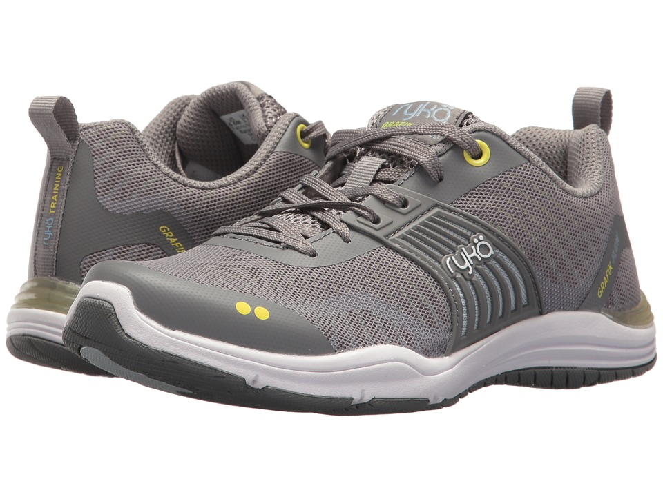 Ryka Grafik Flow (Frost Grey/Bright Chartreuse/Soft Blue) Women's Shoes