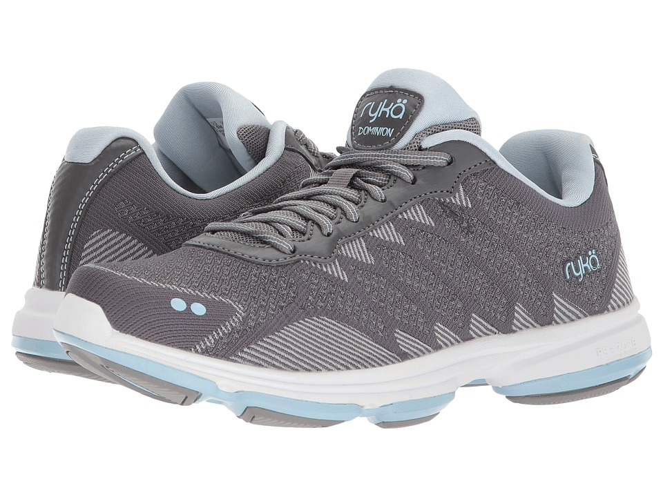 Ryka Dominion (Frost Grey/Soft Blue/Chrome Silver) Walking Shoes