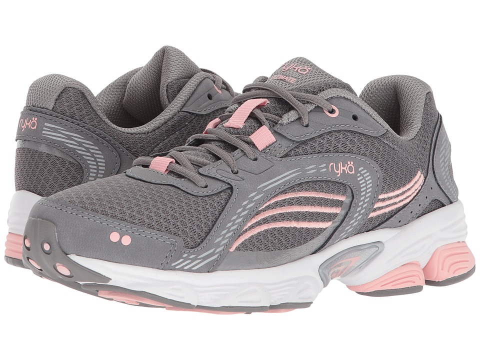 Ryka Ultimate (Frost Grey/English Rose/Chrome Silver) Women's Running Shoes