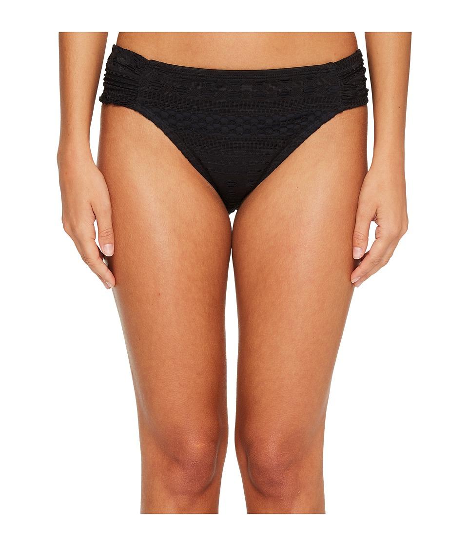Bleu Rod Beattie Crochet Ole Side Tab Hipster Bikini Bottom (Black) Women