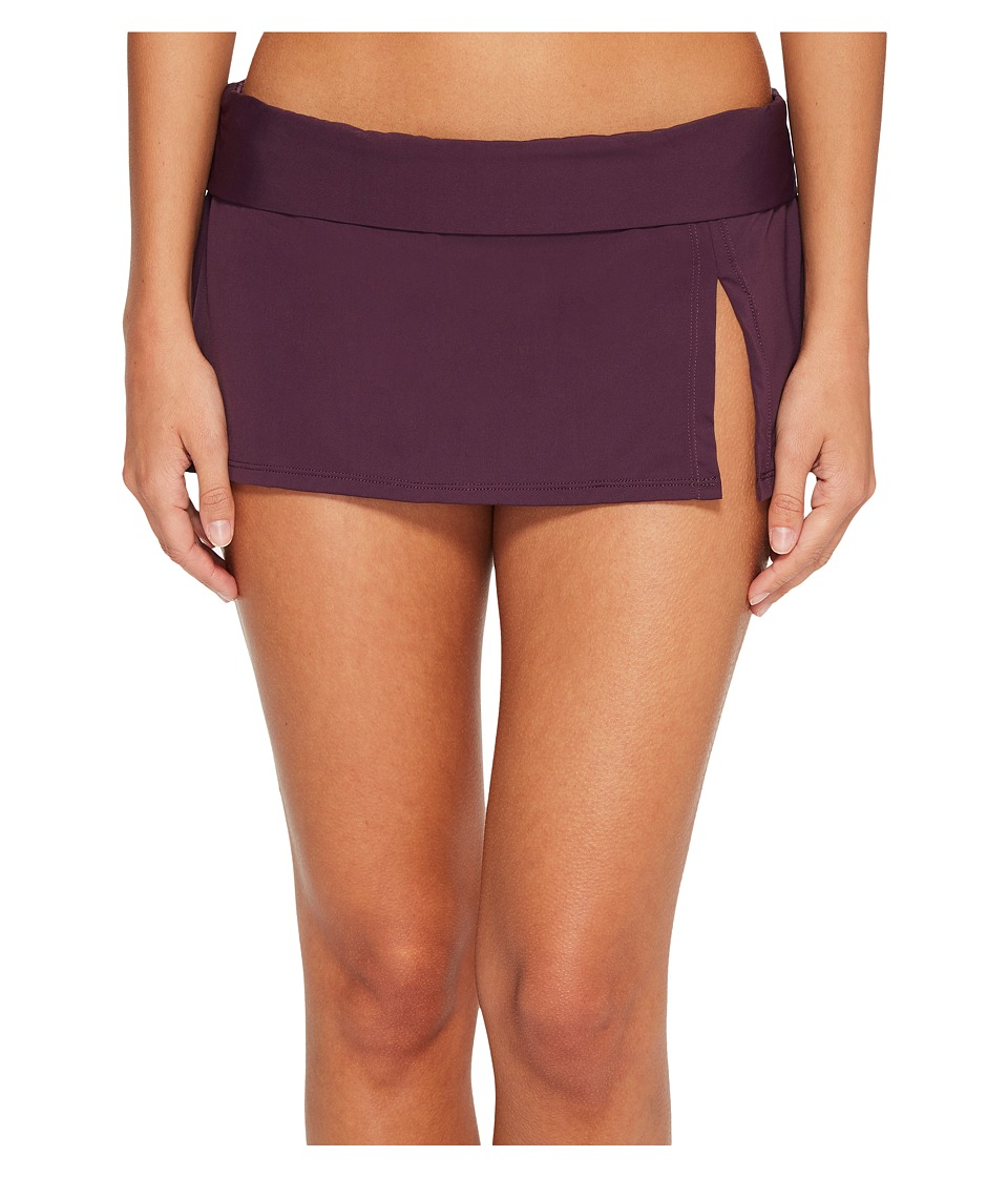 Bleu Rod Beattie - Kore Skirted Hipster Bikini Bottom (Aubergine) Womens Swimwear