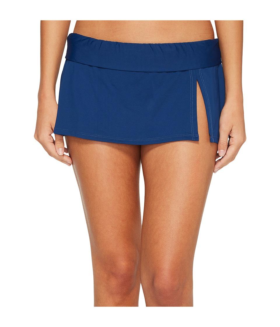 Bleu Rod Beattie Kore Skirted Hipster Bikini Bottom (Navy) Women