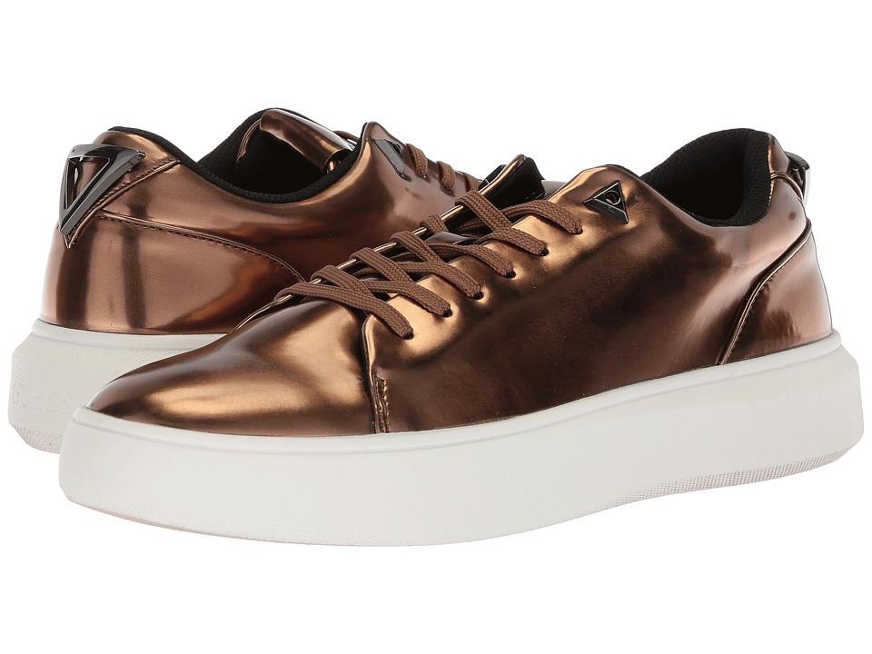 GUESS - Delacruz (Bronze Synthetic) Mens Lace up casual Shoes
