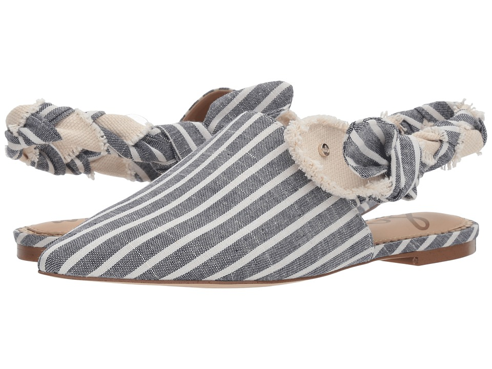 Sam Edelman - Rivers (Sea Blue Multi/Natural Wide Linen Stripe Fabric) Womens Shoes