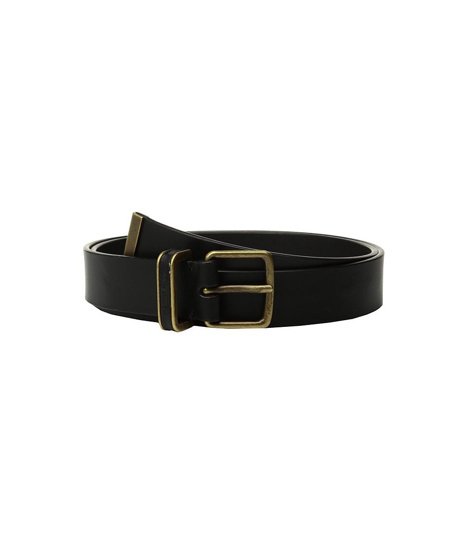 Calvin Klein 30mm Smooth Strap w/ Metal Tip Belt (Black) Women