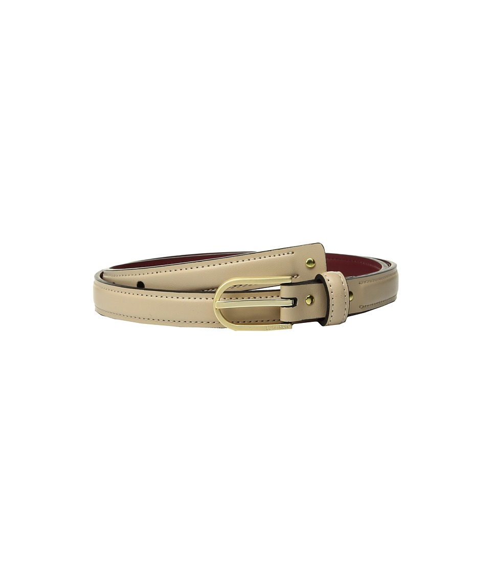 Calvin Klein 20mm Strap w/ Stud Detail Belt (Bare) Women