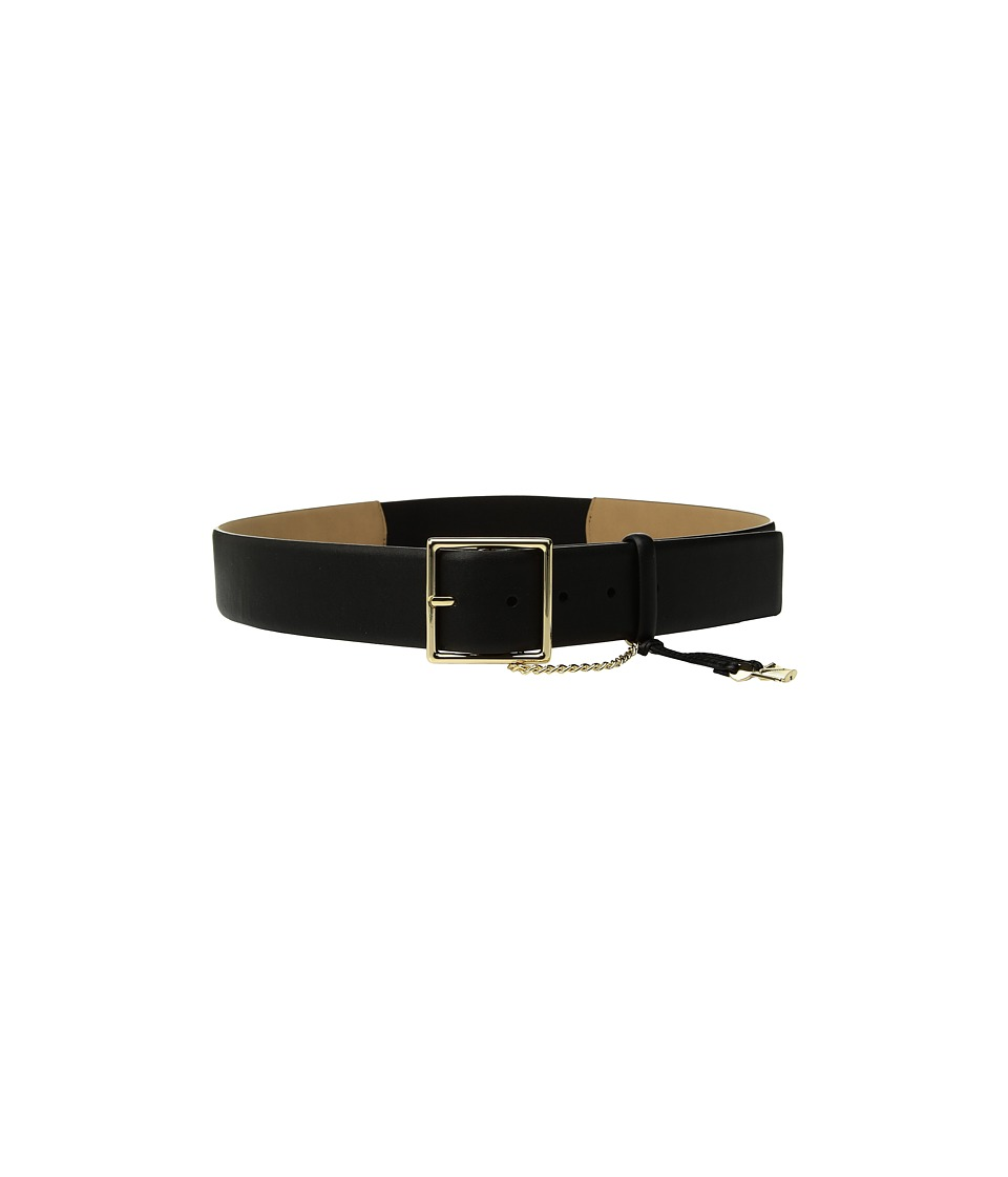MICHAEL Michael Kors 44mm Smooth Key and Lock Belt w/ Stretch Back (Black) Women