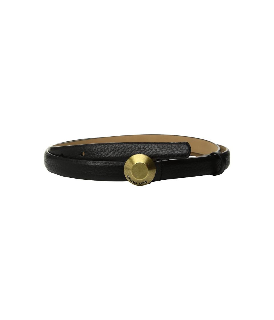 MICHAEL Michael Kors 19mm Astor Buckle Belt (Black) Women