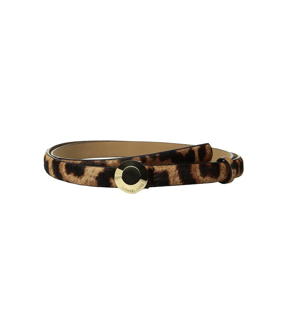 MICHAEL Michael Kors 19mm Astor Buckle Belt (Leopard Haircalf) Women