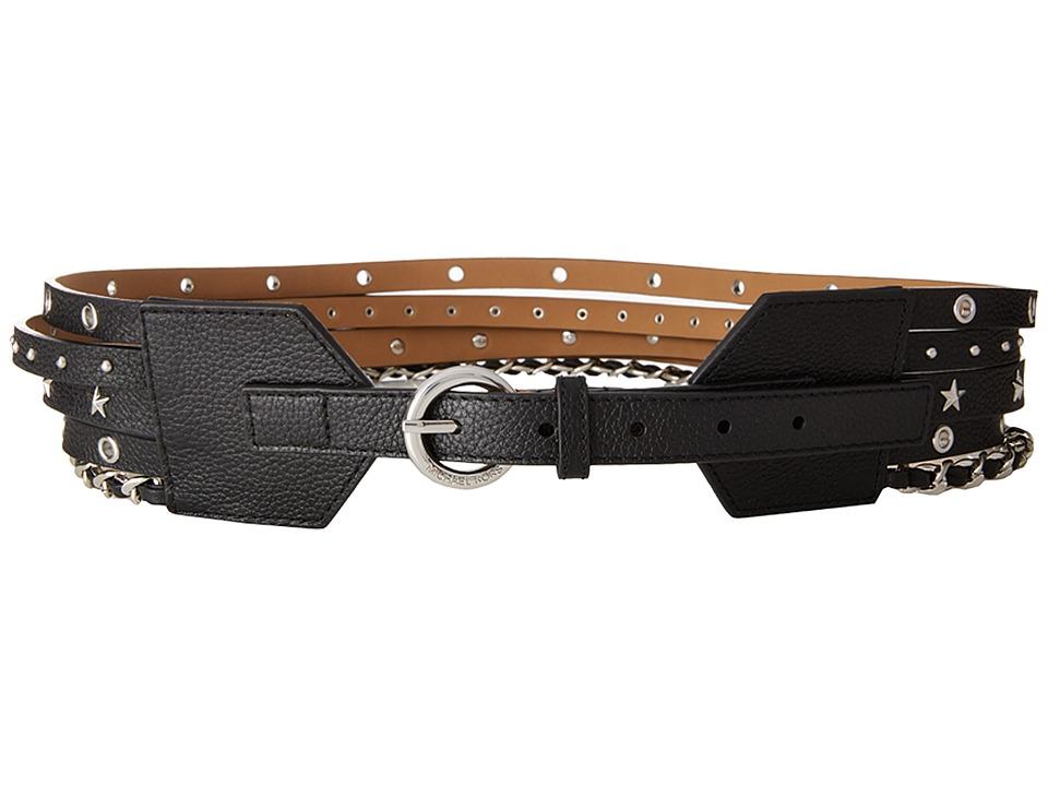 MICHAEL Michael Kors 70mm Multi Strand Waist Belt (Black) Women