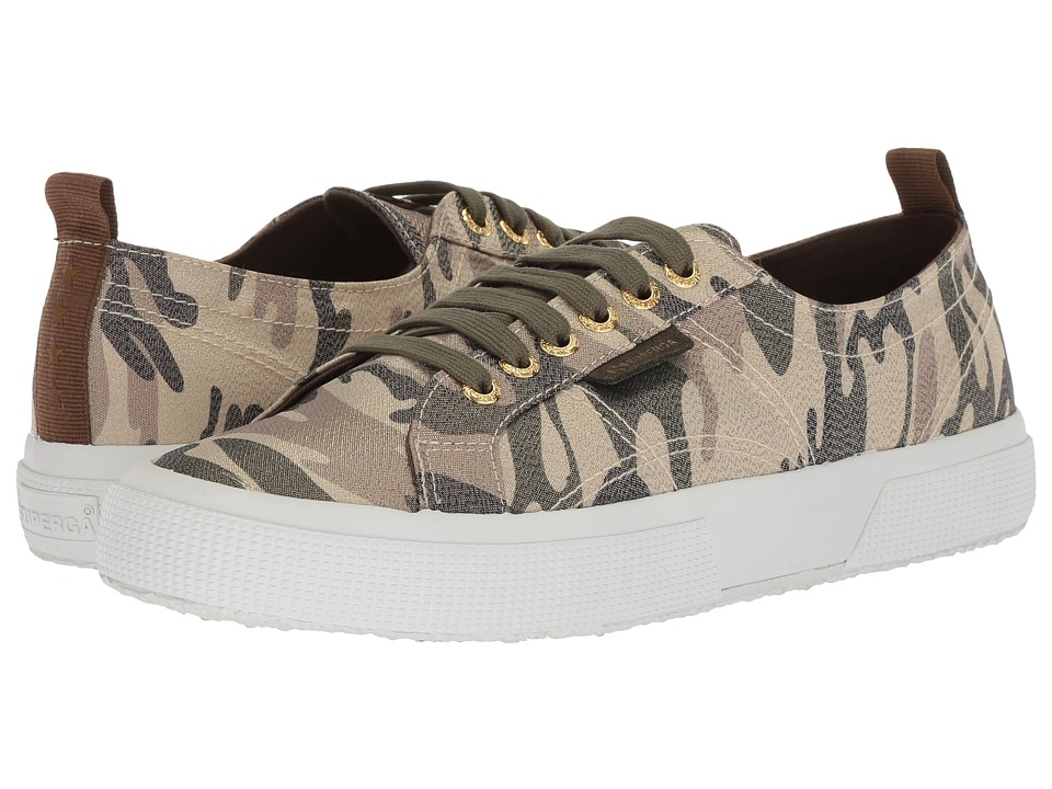 Superga - 2750 Lamecamow Sneaker (Camouflage) Womens Shoes