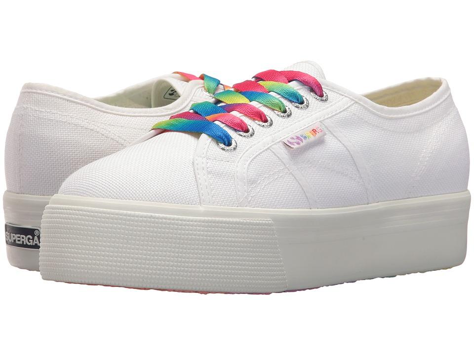 Superga - 2790 COTW Multicolor Outsole Platform Sneaker (White Multi) Womens Shoes