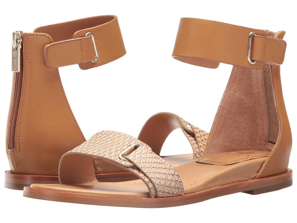 Isola - Savina (Gold/Desert Sand Foil Snake Nubuck/M-Vege) Women's Dress Sandals