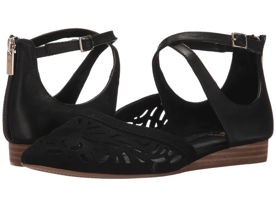 Isola - Carina (Black King Suede/M-Vege) Women's Dress Sandals