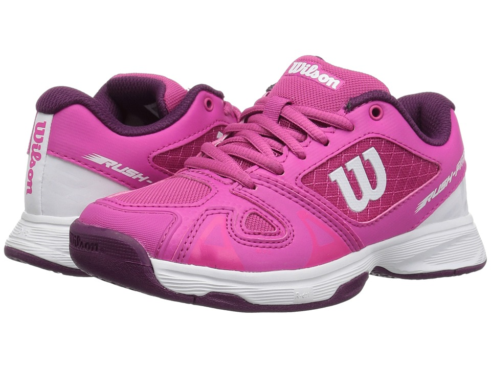 Wilson Kids - Rush Pro 2.5 Jr Tennis (Little Kid/Big Kid) (Verry Berry/White/ Dark Purple) Girls Shoes
