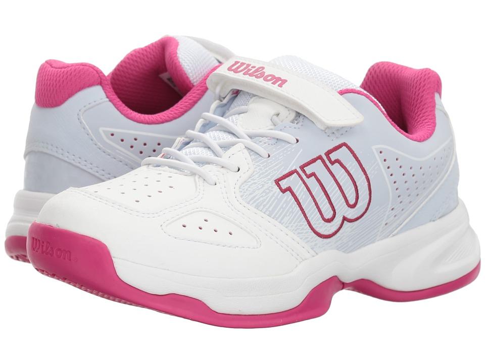 Wilson Kids - Stroke K Tennis (Little Kid) (White/Halogen Blue/Verry Berry) Girls Shoes
