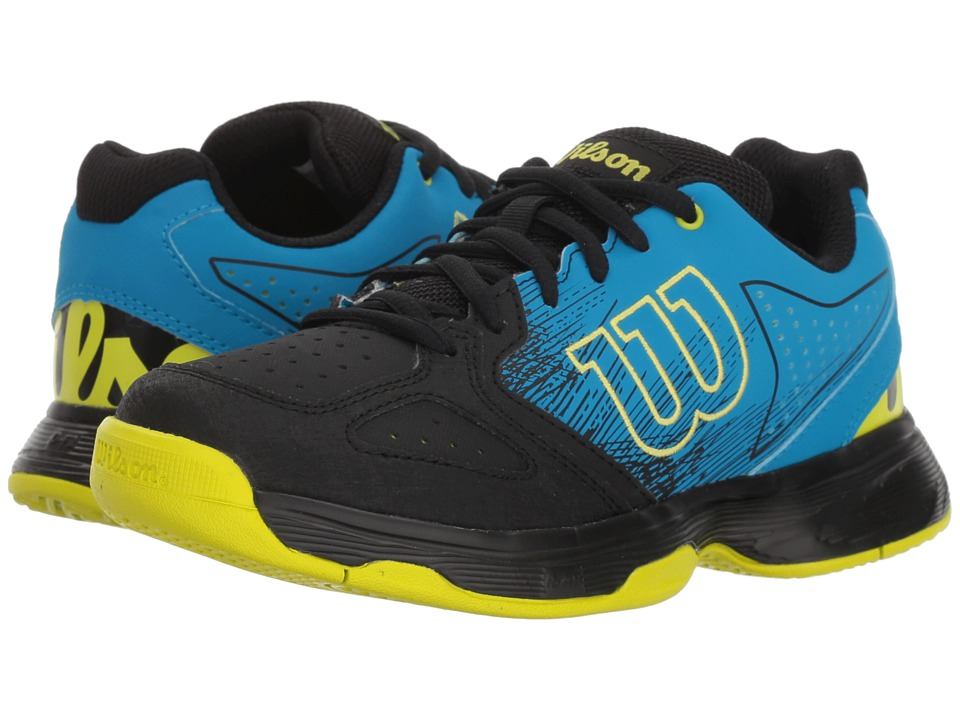 Wilson Kids - Stroke Jr Tennis (Little Kid/Big Kid) (Hawaiian Surf/Black/Lime Punch) Boys Shoes