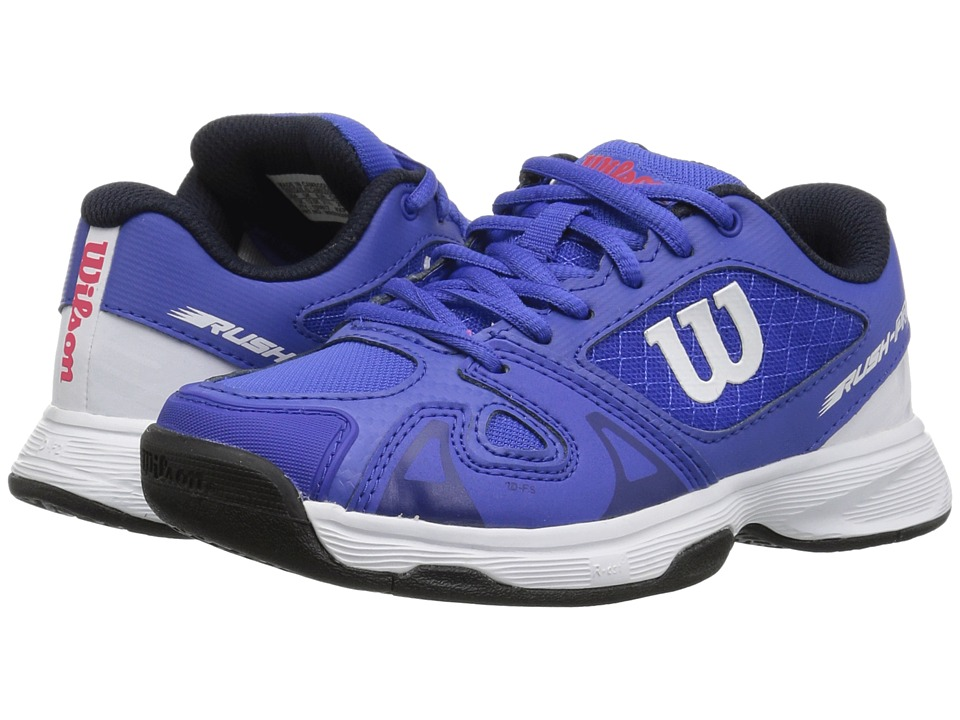Wilson Kids - Rush Pro 2.5 Jr Tennis (Little Kid/Big Kid) (Dazzling Blue/White/Neon Red) Boys Shoes