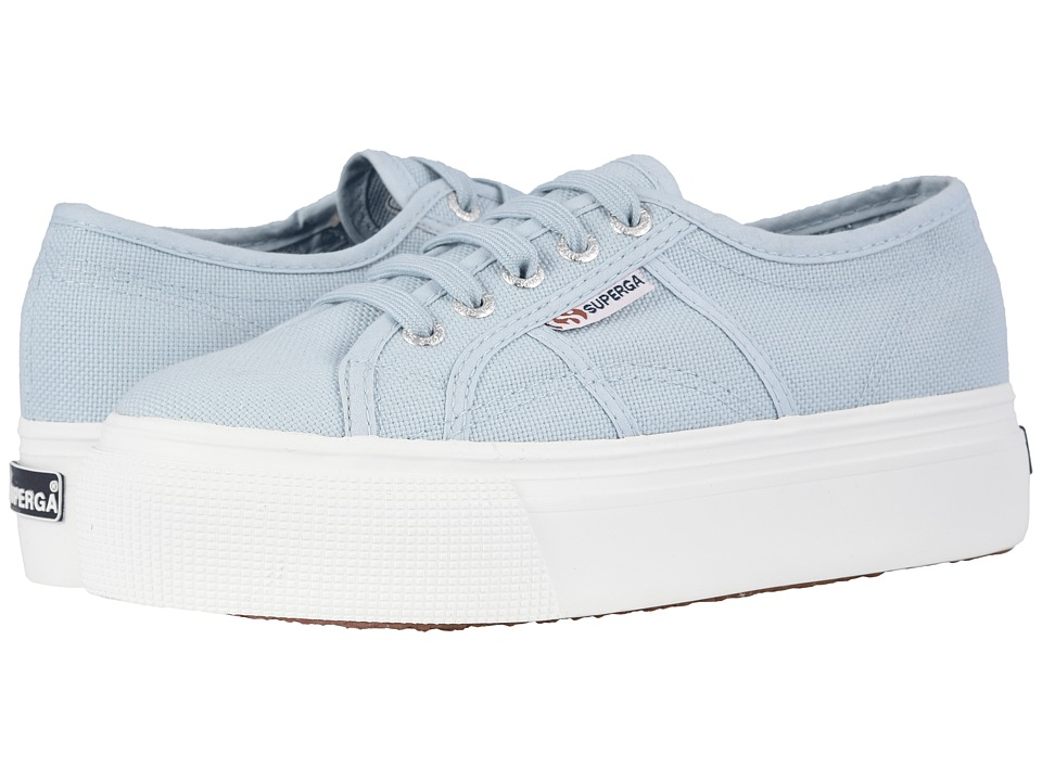 Superga - 2790 Acotw Platform Sneaker (Dusty Blue) Womens Lace up casual Shoes