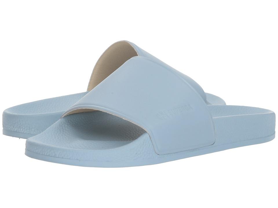 Superga - 1914 Fglu Slide (Dusty Blue) Womens Slide Shoes
