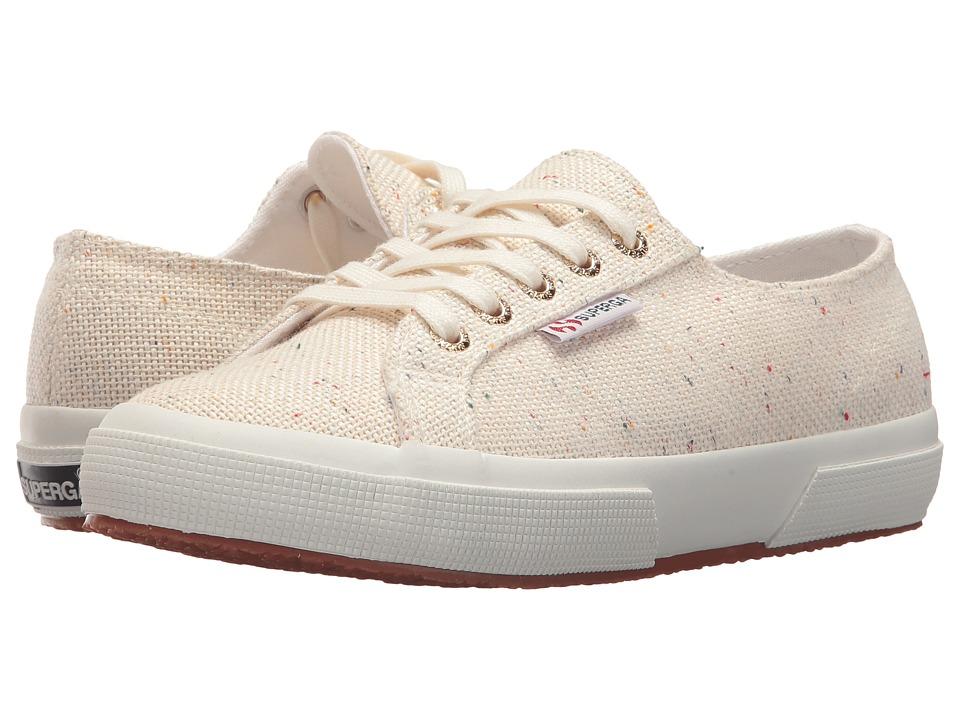 Superga - 2750 Specklew Sneaker (White Multi) Womens Shoes