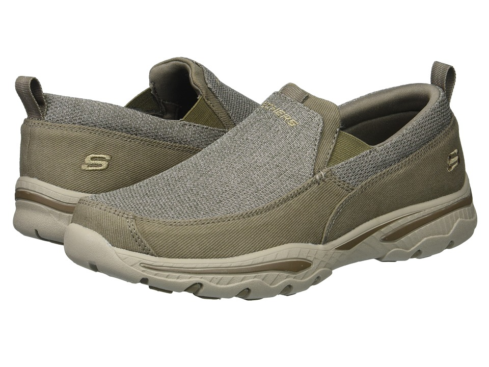Skechers Relaxed Fit Creston - Erie (Taupe) Men's Slip on...
