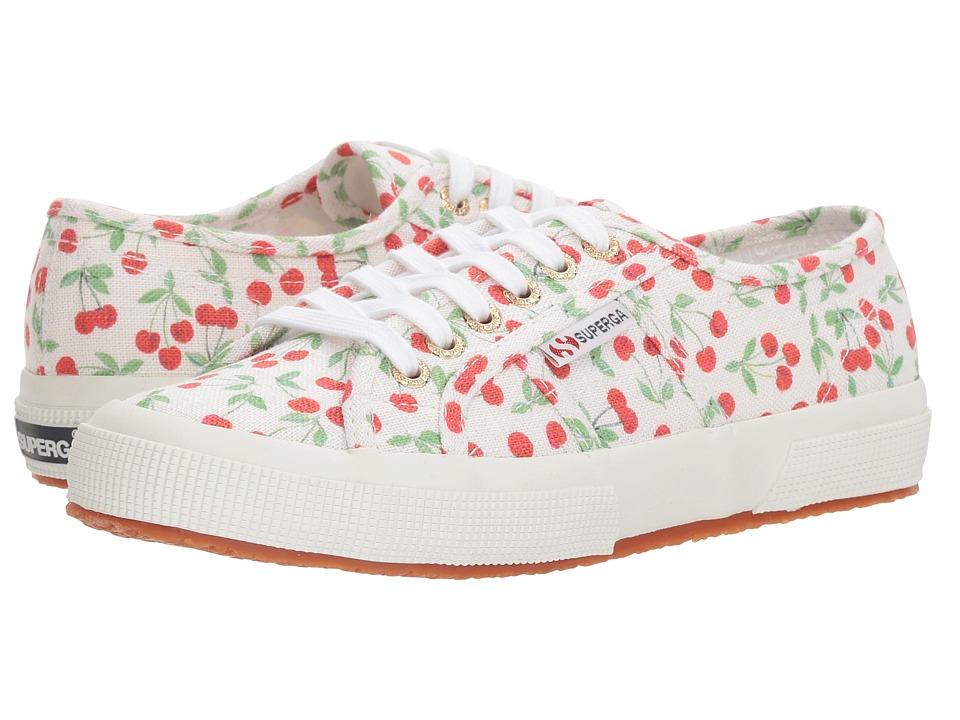 Superga - 2750 Linen Fruitw Sneaker (Cherry Pat) Womens Shoes