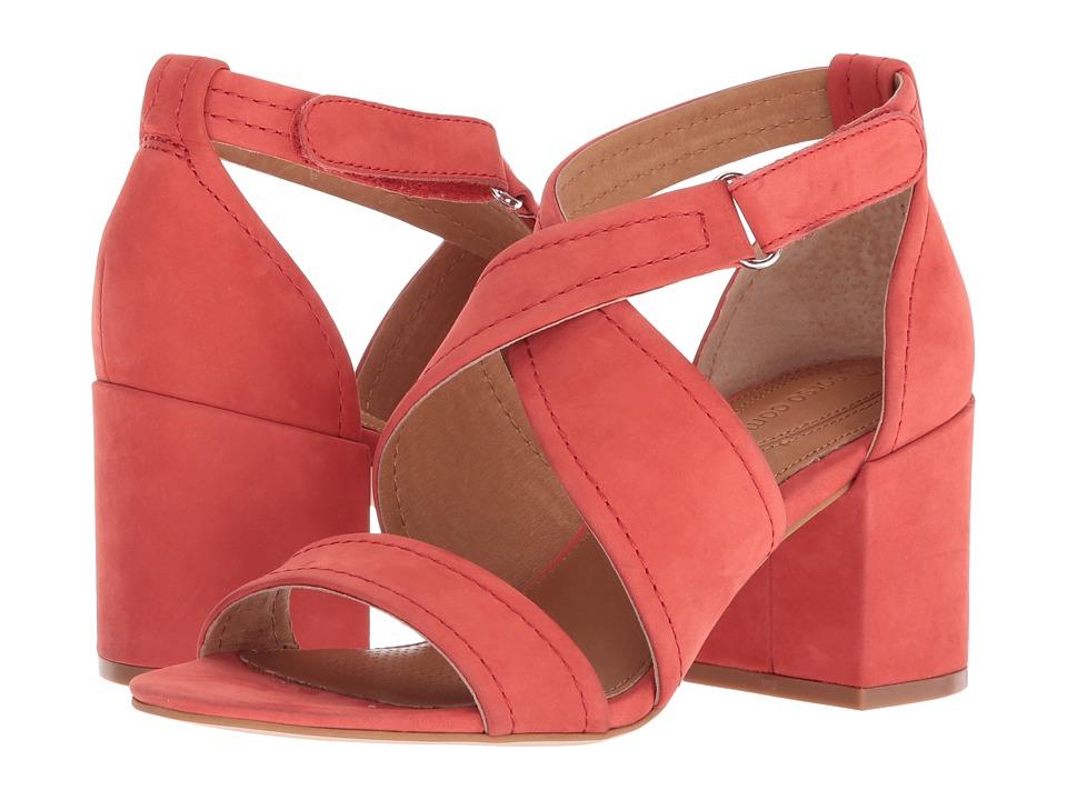 CC Corso Como Nattie (Deep Red Soft Nubuck) Women's Dress Sandals