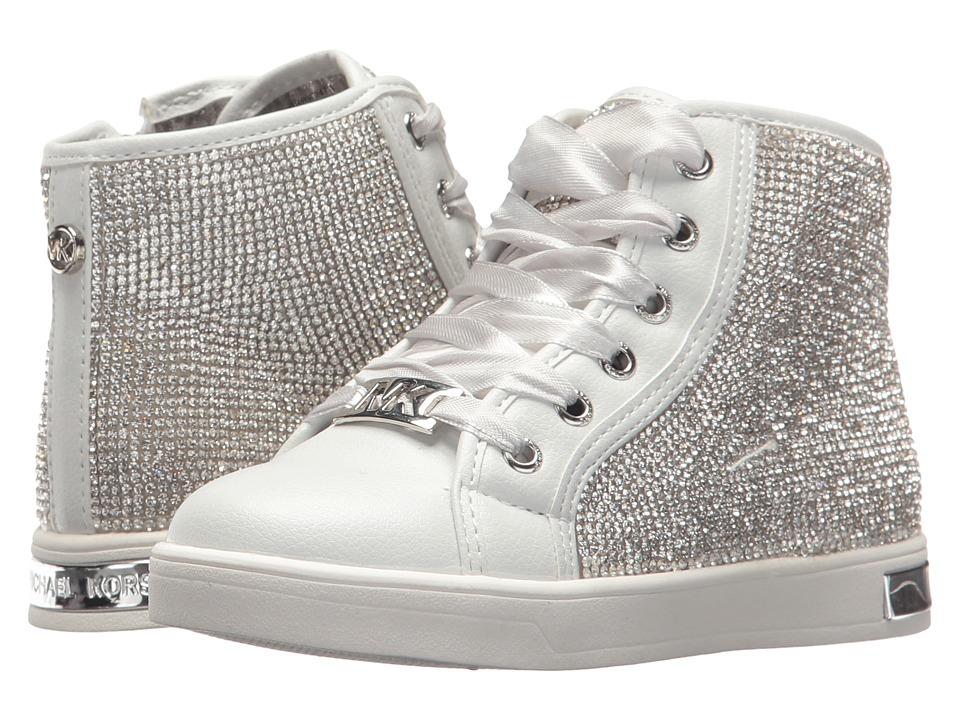 MICHAEL Michael Kors Kids - Ollie Bright (Toddler) (White/Silver) Girls Shoes