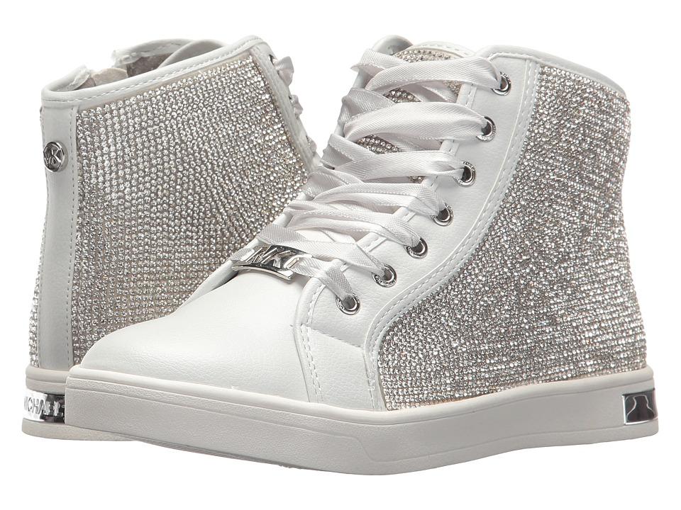 MICHAEL Michael Kors Kids - Ollie Bright (Little Kid/Big Kid) (White/Silver) Girls Shoes
