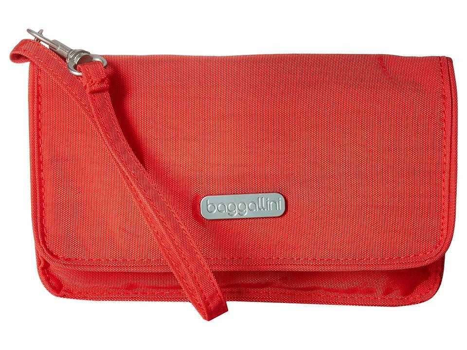 Baggallini - RFID Flap Wristlet (Hibiscus) Wristlet Handbags