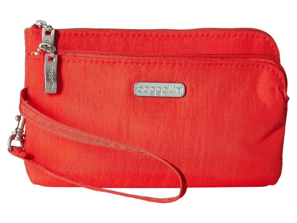 Baggallini - RFID Double Zip Wristlet (Hibiscus) Wristlet Handbags