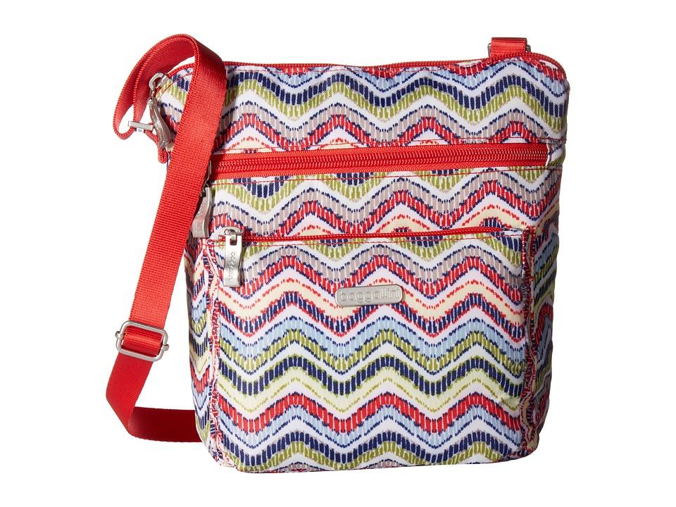 Baggallini - Pocket Crossbody Bag with RFID Wristlet (Wave Print) Cross Body Handbags