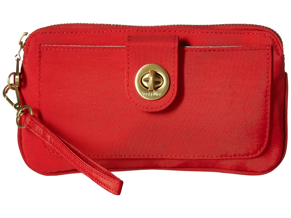 Baggallini - Gold Lisbon RFID Wristlet (Hibiscus) Wristlet Handbags