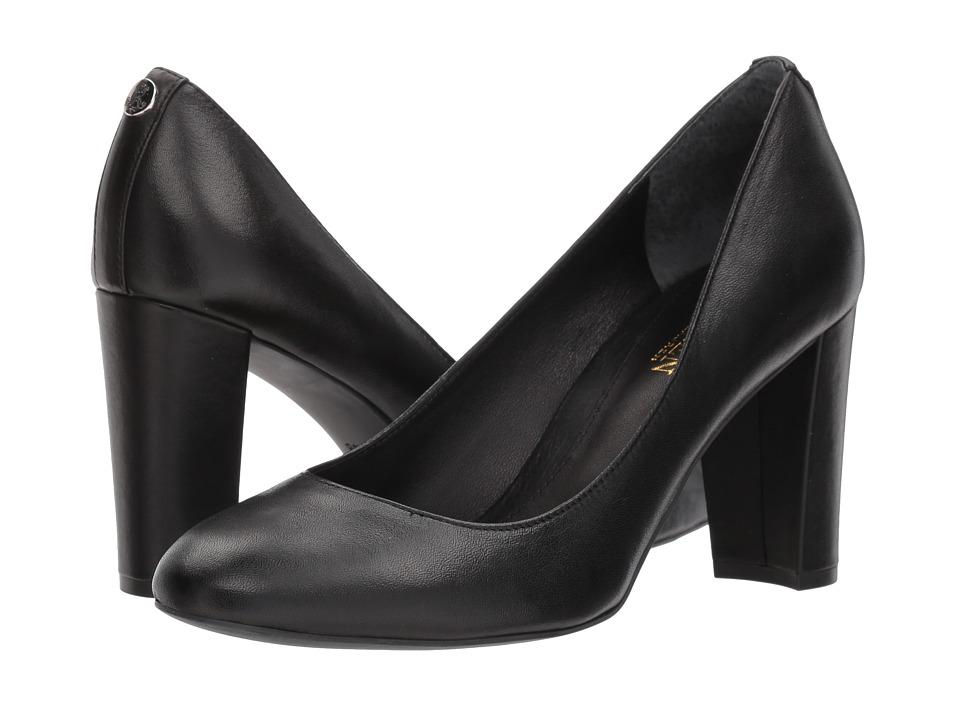 LAUREN Ralph Lauren - Maddie (Black Super Soft Leather) Womens Shoes