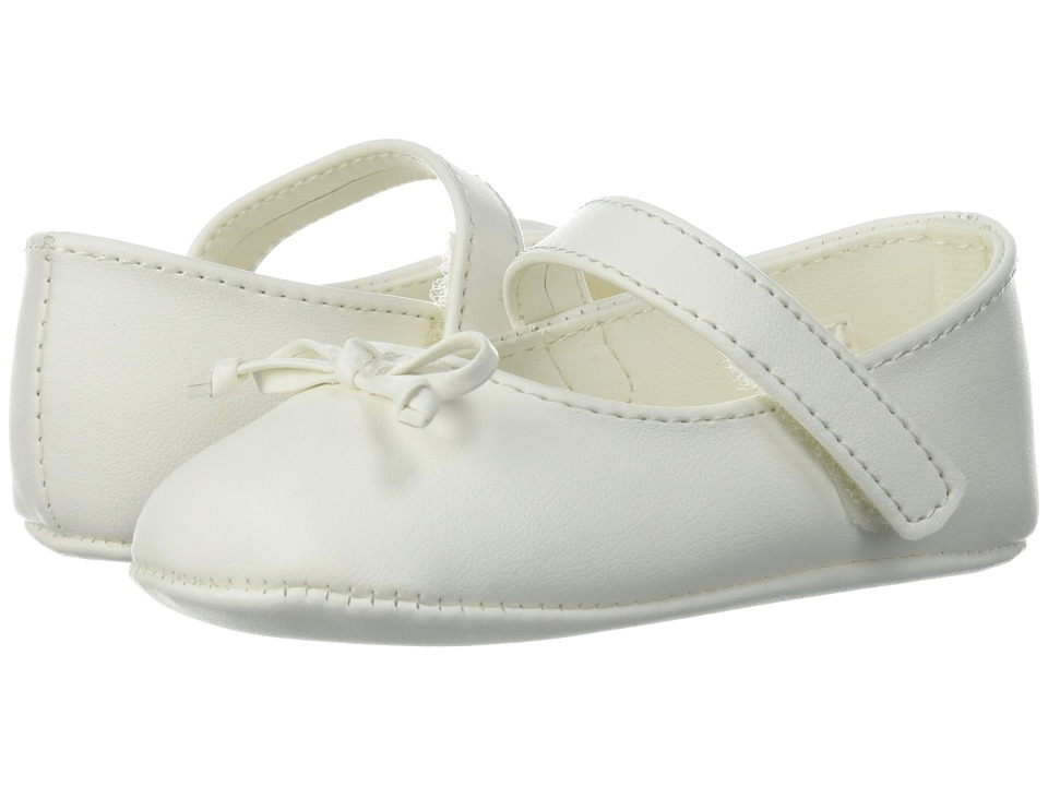Baby Deer - Soft Sole Ballet with Bow (Infant) (Ivory) Girls Shoes