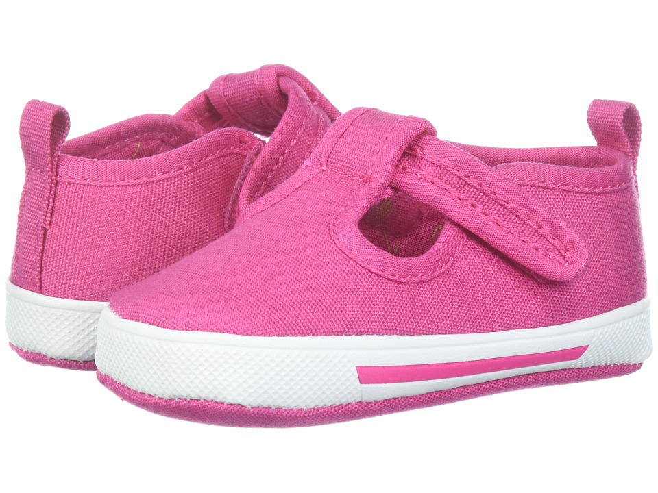 Baby Deer - Soft Sole T-Strap (Infant) (Fuchsia) Girls Shoes