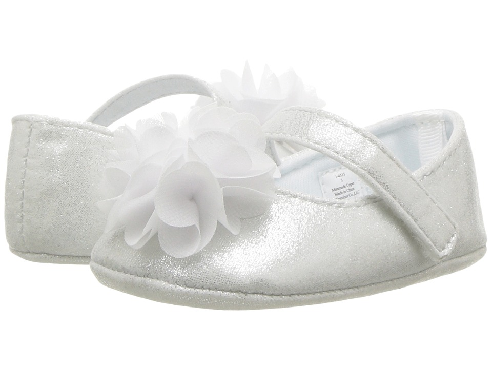 Baby Deer - Soft Sole Ballet with Flower (Infant) (White) Girls Shoes