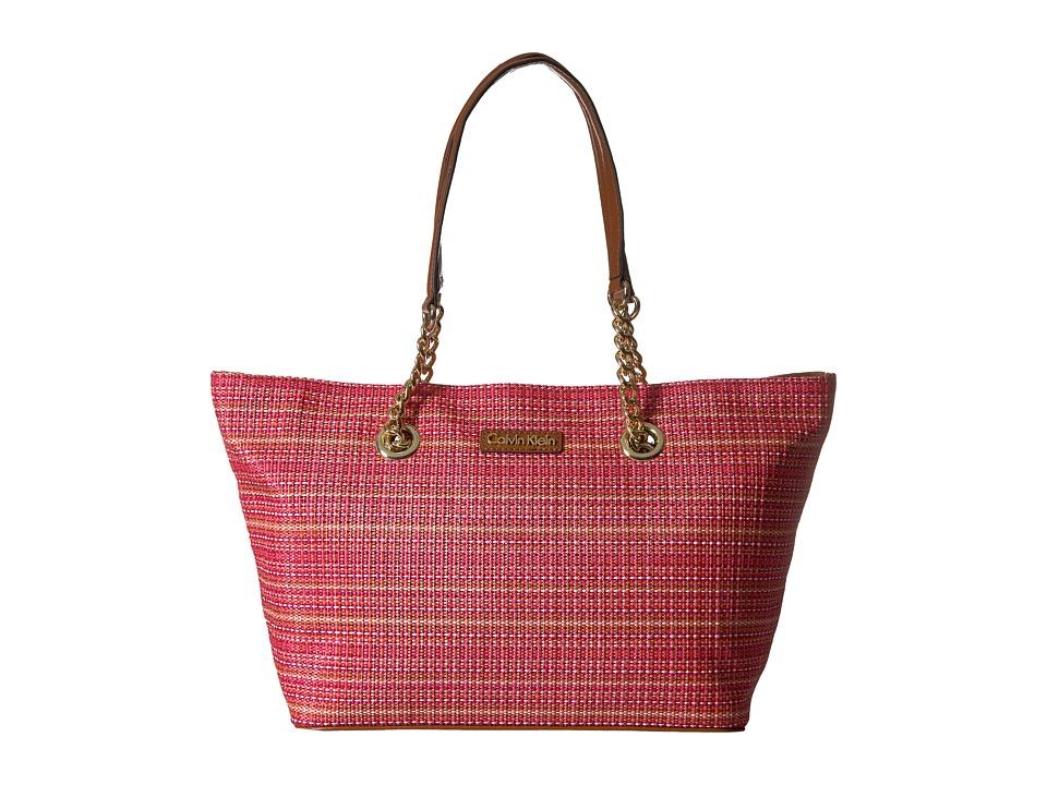 Calvin Klein - Raffia Tote (Dahlia) Tote Handbags