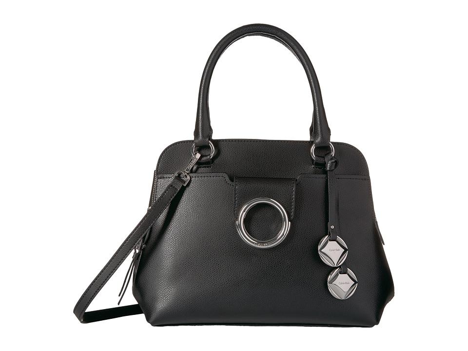 Calvin Klein Reese Mercury Satchel (Black/Silver) Satchel...