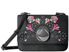 Calvin Klein Reese Floral Printed Saffiano Structured Flap Crossbody