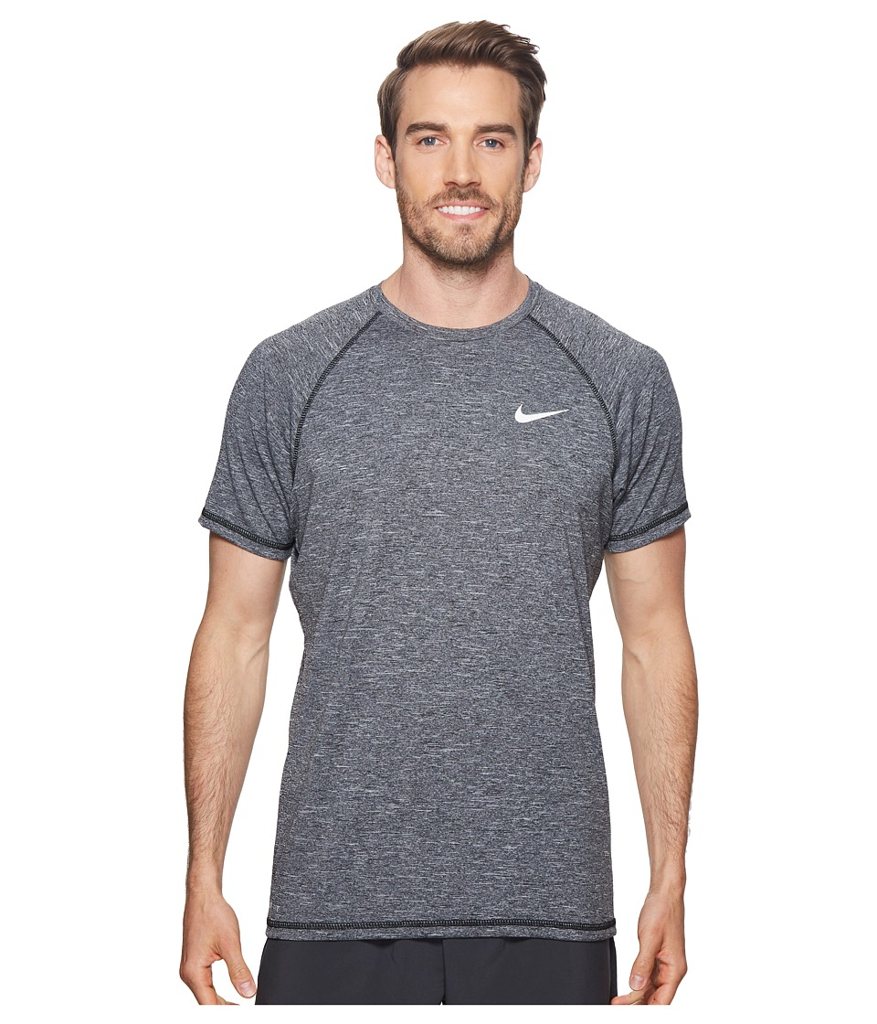 Nike Short Sleeve Hydroguard (Black) Men's Swimwear