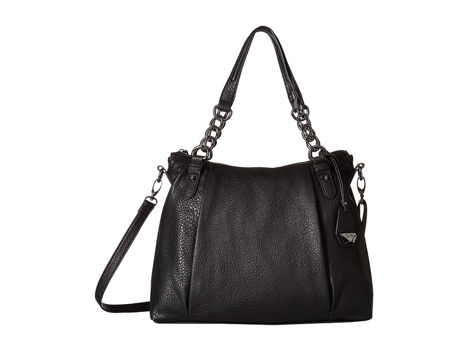 Jessica Simpson Rees Satchel (Black) Satchel Handbags