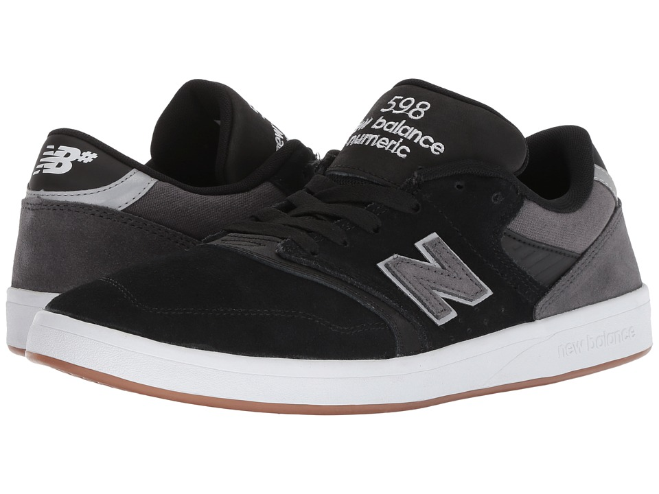 New Balance Numeric - NM598 (Black/Grey Suede/Canvas) Mens Skate Shoes