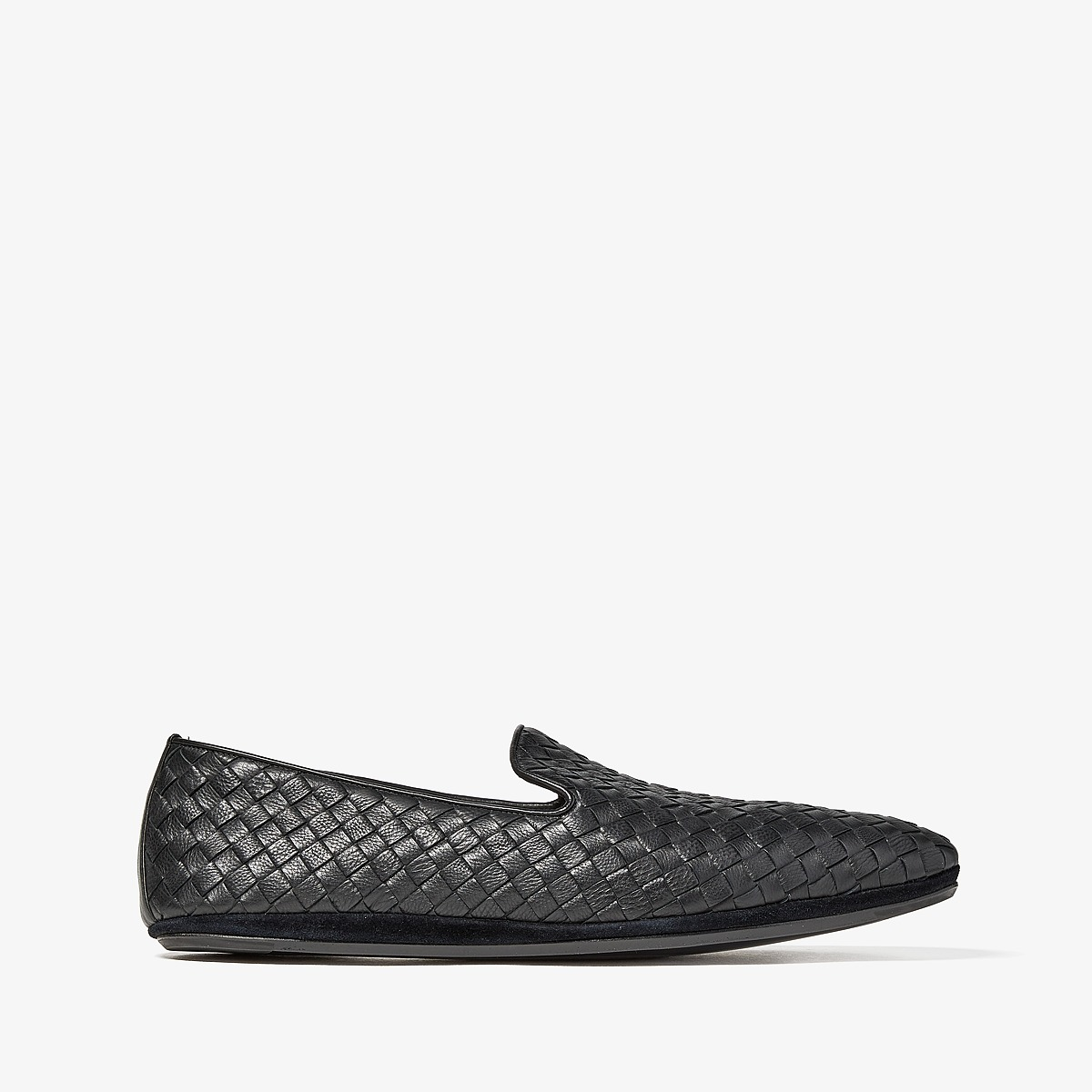Bottega Veneta - Intrecciato Loafer (Black) Mens Flat Shoes