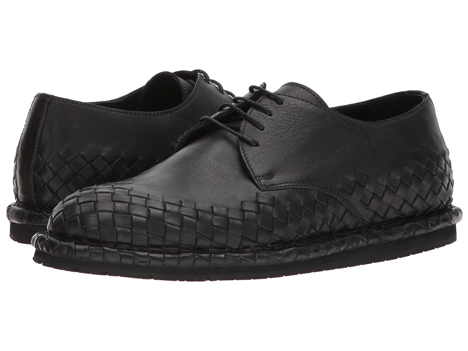 Bottega Veneta - San Crispino Oxford (Black) Mens Dress Flat Shoes