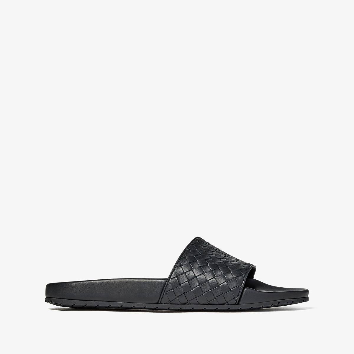 Bottega Veneta - Speedster Slide Sandal (Black) Men's Sandals