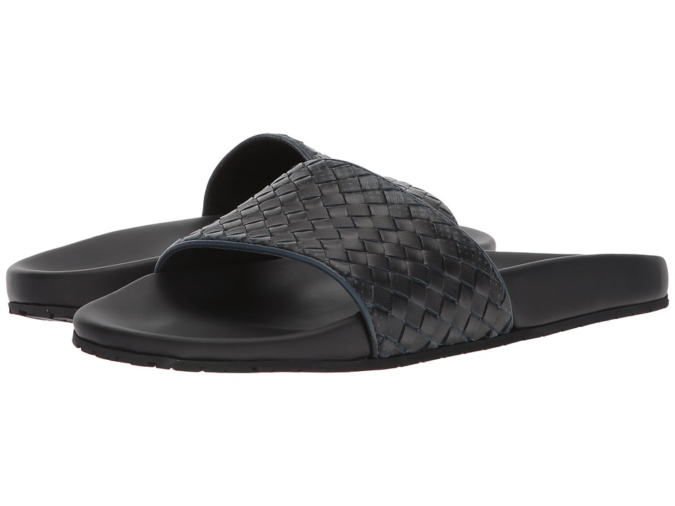 Bottega Veneta - Lake Galaxy Slide Sandal (Denim/Black) Men's Sandals