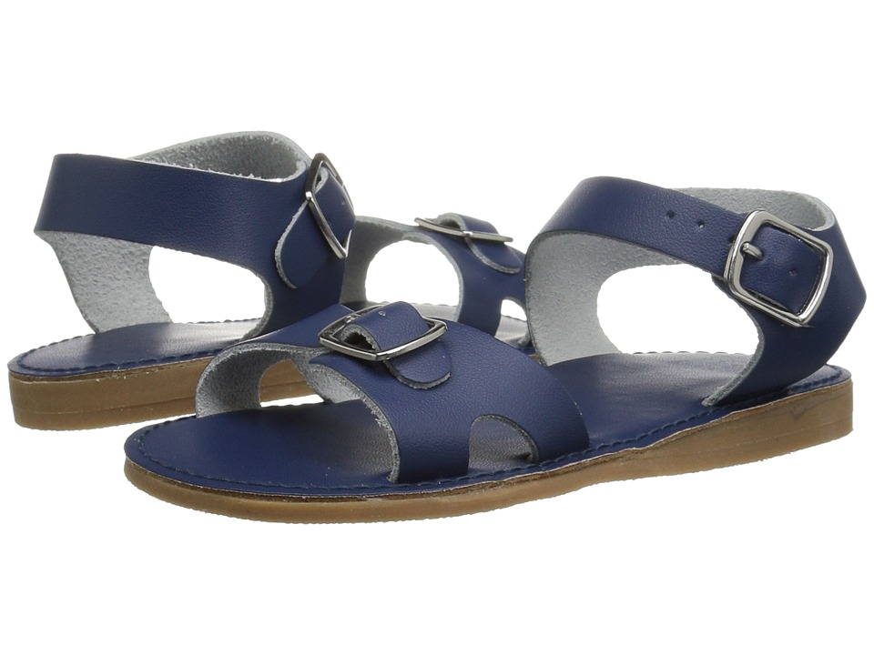 Baby Deer First Steps Classic Double Buckle Sandal (Infant/Toddler) (Navy)