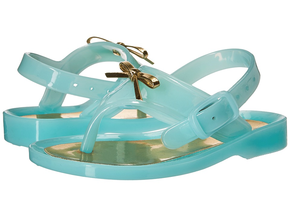 Baby Deer - First Steps Jelly Thong Sandal with Bow (Infant/Toddler) (Turquoise) Girls Shoes